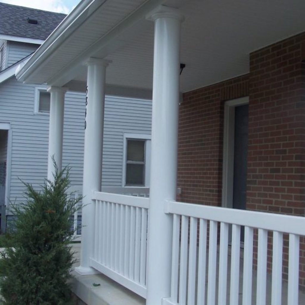 bergendecks and vinyl railings maintenance porch low composite body columns deck