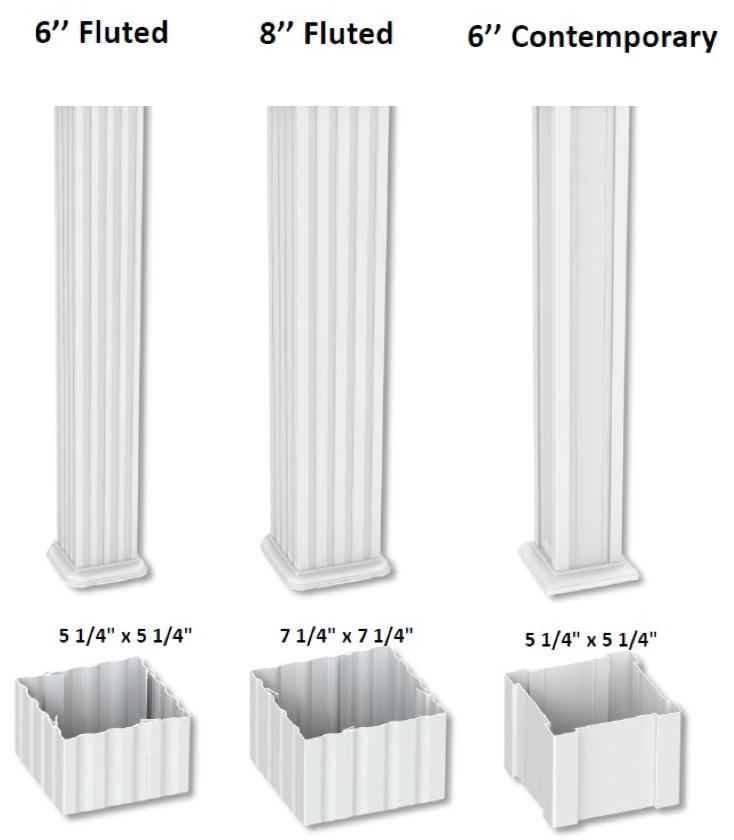 Aluminum Columns Amp Posts Al Mar Vinyl Amp Aluminum Exeter