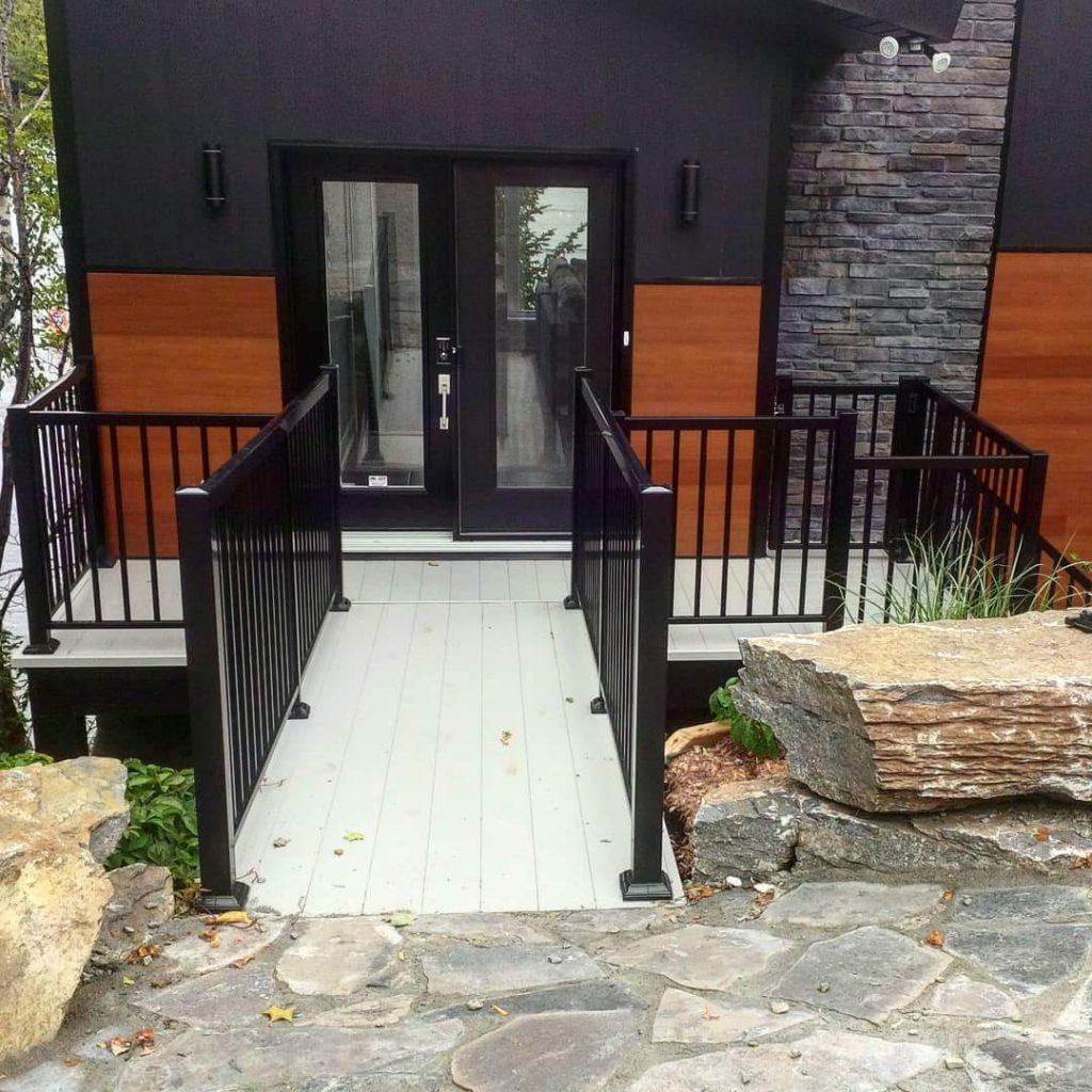 Aluminium Railing Outside the House | Outdoor Exterior Railings
