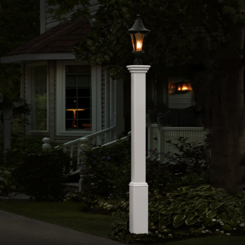 White Wooden Lightning Lamp Picture