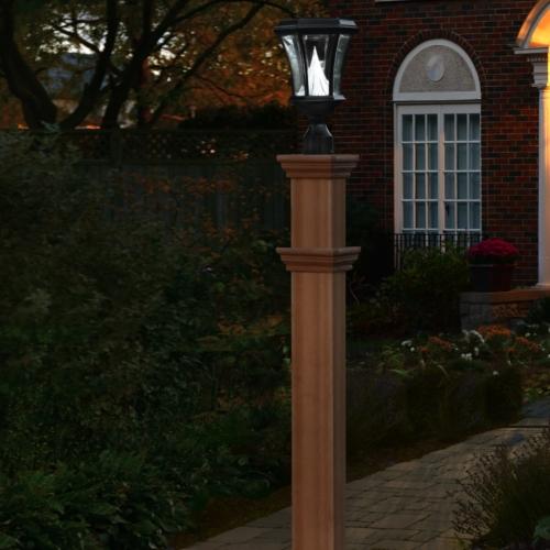 Wooden Lightning Lamp Outside the House