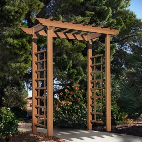 Wooden Garden Arbors Picture | Wood Arbor Trellis