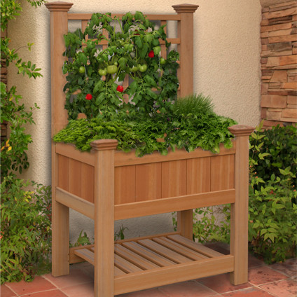 Decorative Wooden Planter Box | Wooden Plant Containers