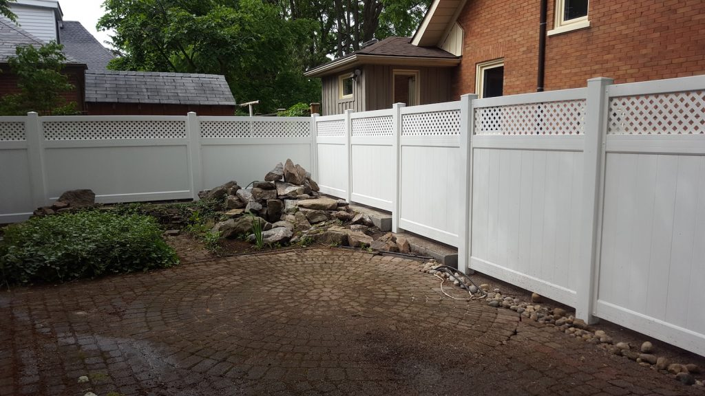White Colour U Channel Privacy Fence | Wood Fences & Posts