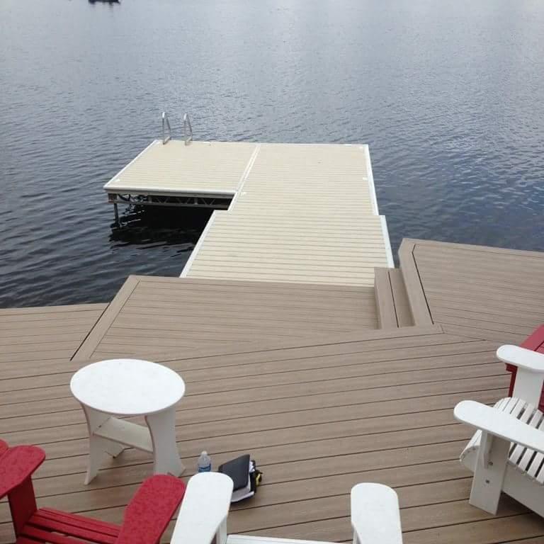 Beautiful Veka Decking Image at Lake Side