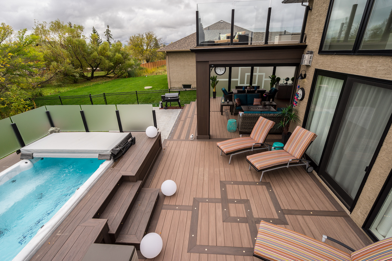 Outdoor Cottage Living With Wolf Serenity Decking   Al-Mar Vinyl