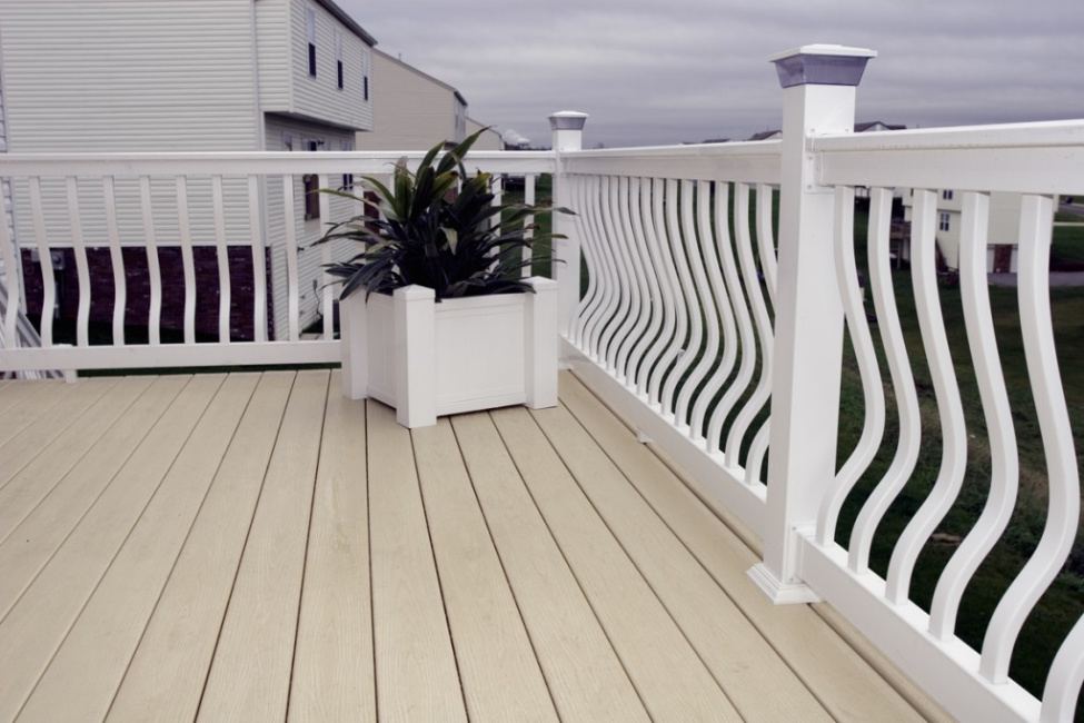 Image of Vinyl PVC Belly Deck Rail System | Deck Railing | Al-Mar Vinyl