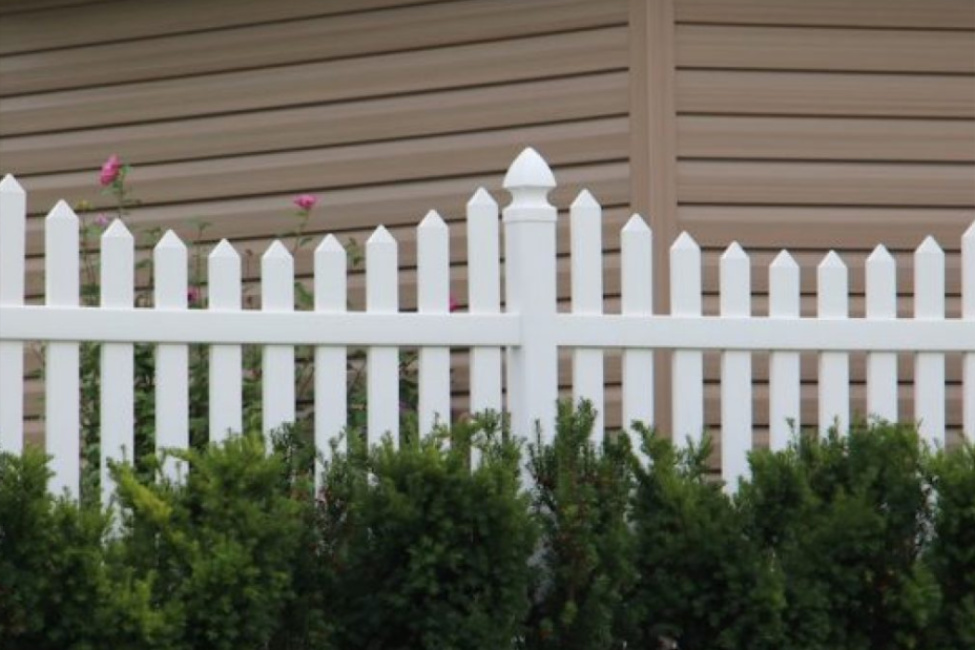 Image of White Straight Picket Fence | Picket Fencing Manufacturer