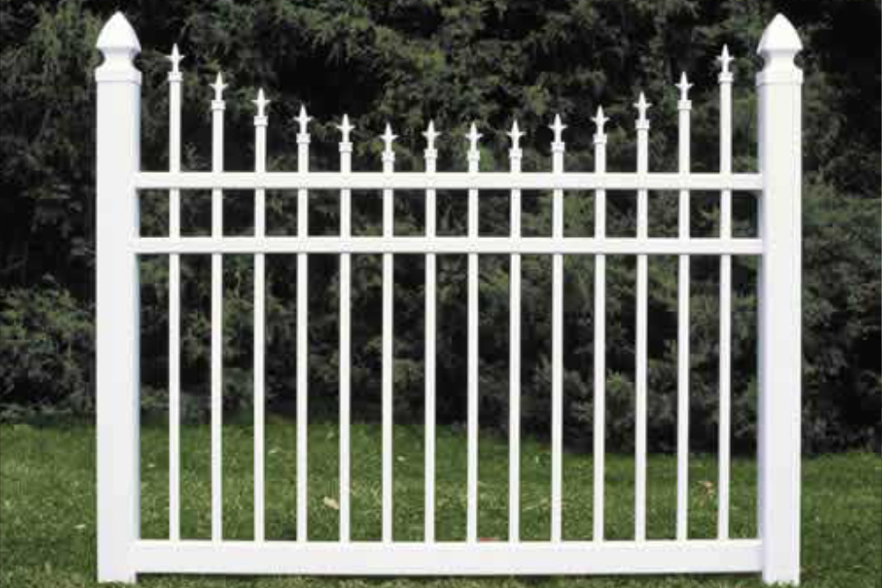 Wrought Iron Look Fencing | White Vinyl Vence